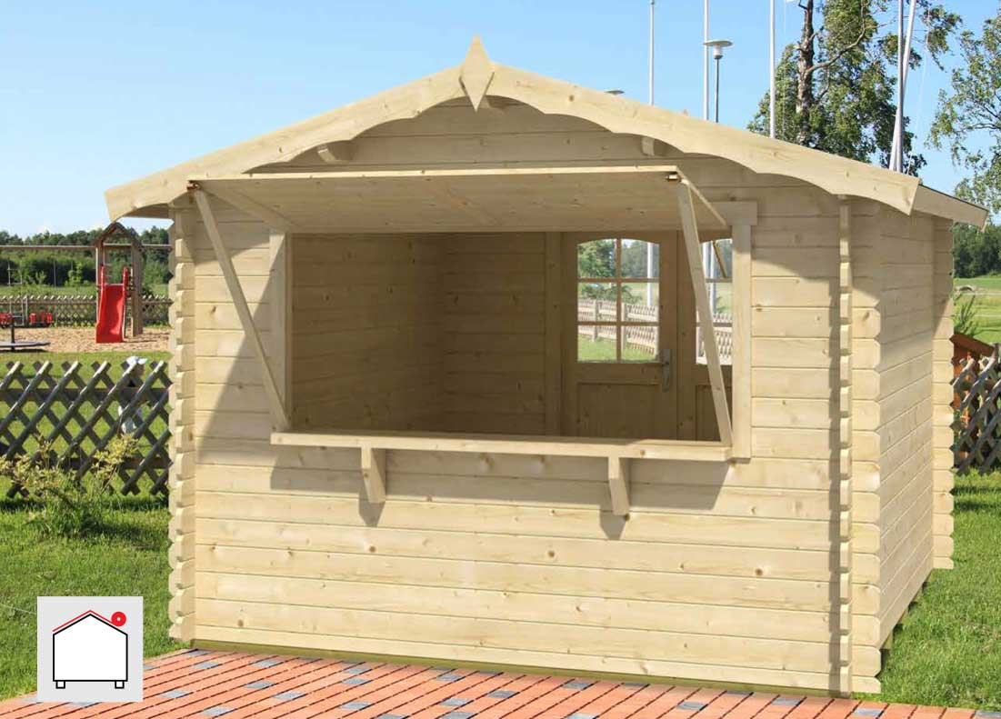 Prefabricated Building Kit For Farm Or Market Kiosk