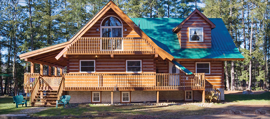 Affordable log homes cottages and cabins from vancouver for Large cabin kits